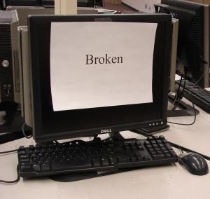 Example of a broken computer