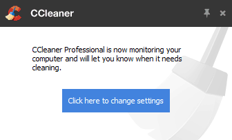 Notification board for CCleaner