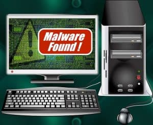 Example of a malware infected computer