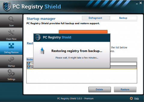 Registry Restore by PC Registry Shield