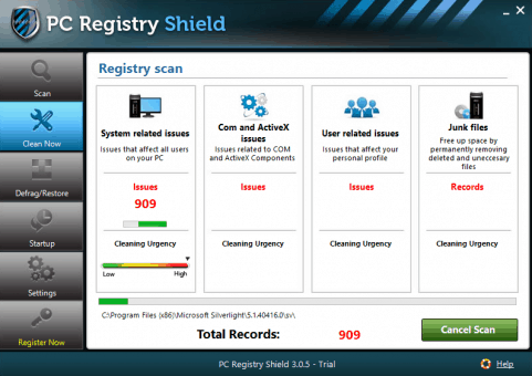 PC Registry Shield Scanning