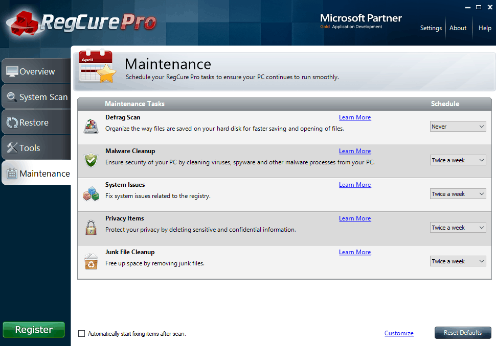 perfect regcure pro registry cleaner free download