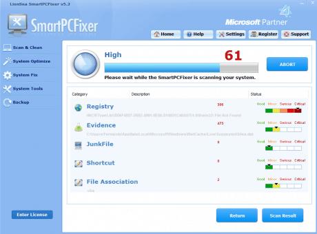 SmartPCFixer's scanning computer
