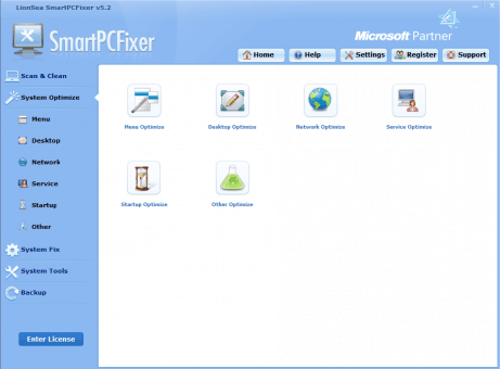 SmartPCFixer's system optimization tools