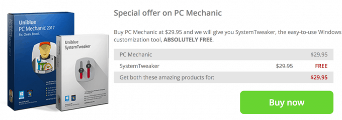 Uniblue PC Mechanic pricing