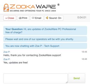 ZookaWare live chat